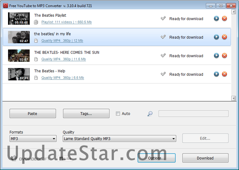 Free YouTube to MP3 Converter 4.6.0.1110