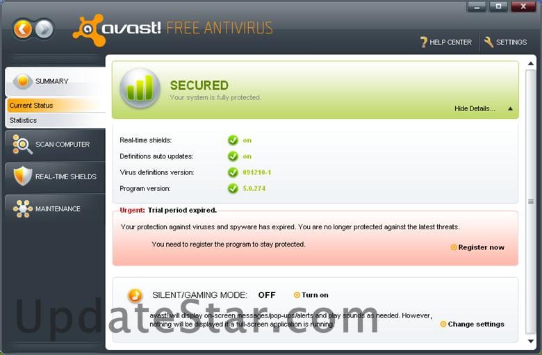 avast! Free Antivirus 17.6.2310