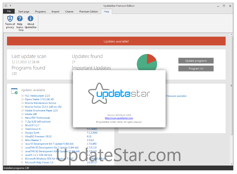 UpdateStar Premium Edition 11.0.1297