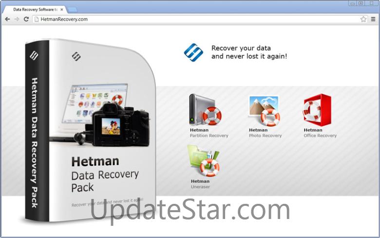 Скачать Hetman Data Recovery Pack бесплатно 52.08Mb.