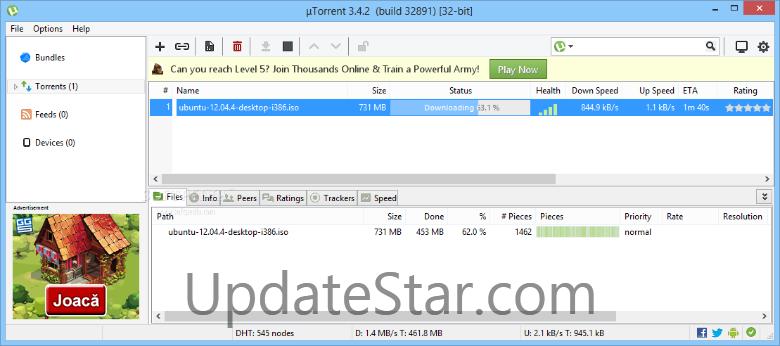 µTorrent 3.5.3.44396