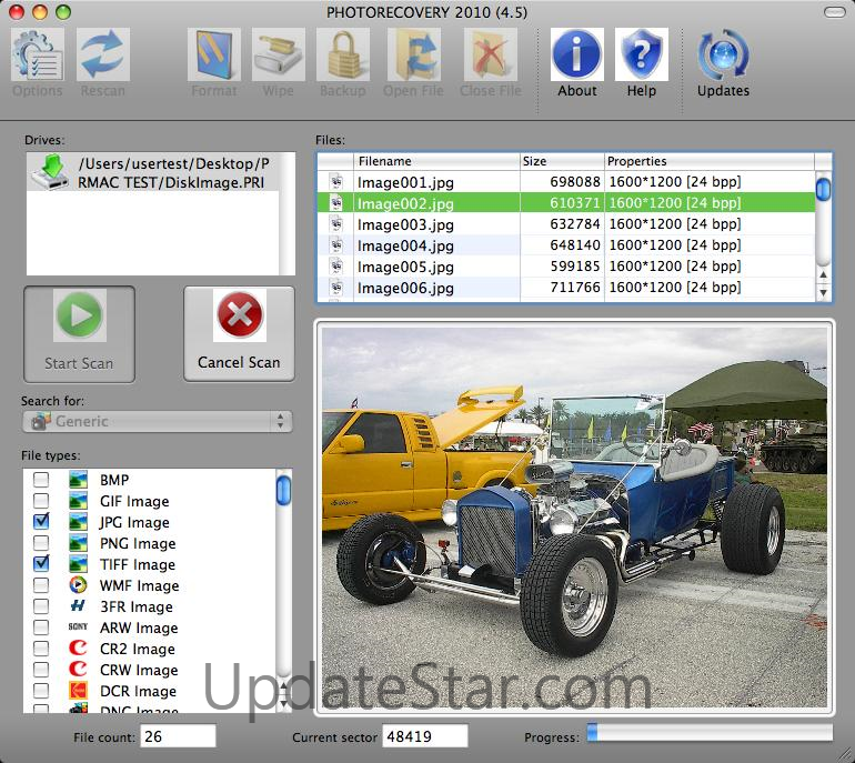 PHOTORECOVERY for Mac OSX 5.1.7.1