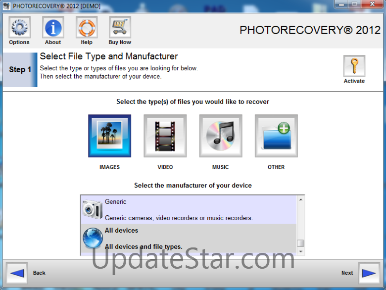 PHOTORECOVERY for Digital Media 5.1.7