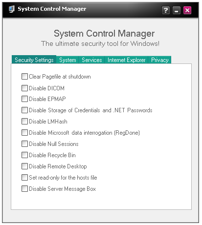 System Control Manager 172.0